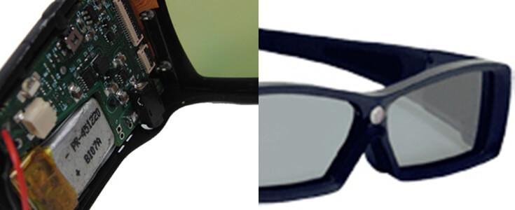 LiPo Batteries LP451220 3,7V 70mAh for Active 3D Shutter Glasses