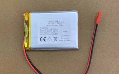Custom LiPo Battery 624765 2100mAh 7.77Wh Rechargeable batteries