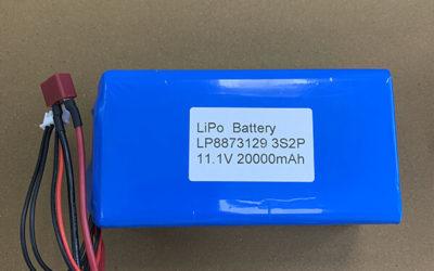Custom Rechargeable 11.1V LiPo Battery LP8873129 3S2P 20000mAh 222Wh