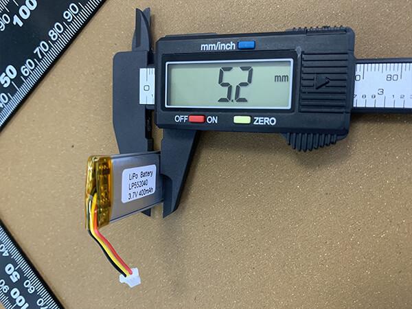 Rechargeable Lipo Battery Lp552040 400mah Lipol Battery Co
