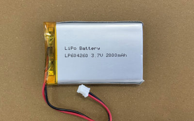 Rechargeable LiPo battery LP604260 2000mAh