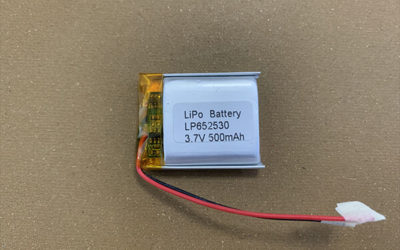 Rechargeable LiPo battery LP652530 500mAh