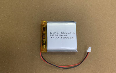 3.7V Rechargeable LiPo Battery LP923438 1200mAh