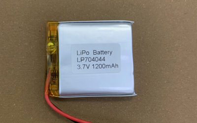 3.7V LiPo Battery LP704044 1200mAh with PCM