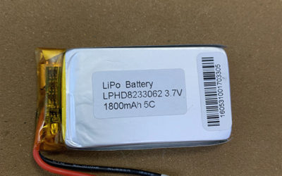 High Rate LiPo Battery LPHD8233062 1800mAh 5C
