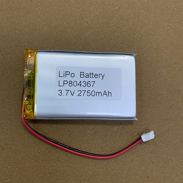 Standard LiPo battery LP804367 2750mAh with connector JST PHR-2