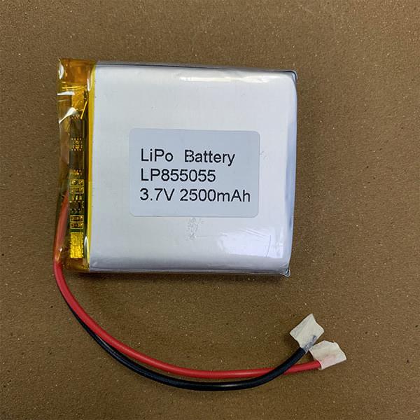 Rechargeable LiPo battery LP855055 2500mAh