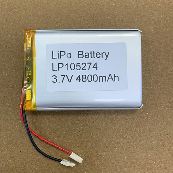 3.7V Hot Selling LiPo Battery LP105274 4800mAh With PCM