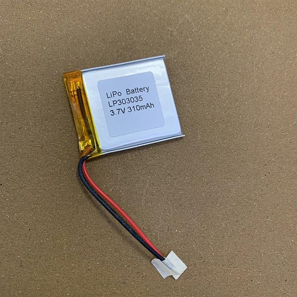 3.7V Rechargeable LiPo battery LP303035 310mAh
