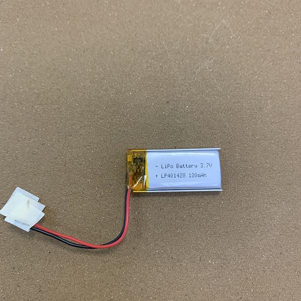 3.7V Rechargeable Small LiPo battery LP401428 120mAh