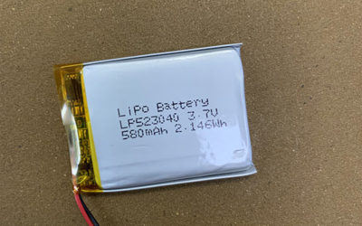 3.7V Standard LiPo battery LP523040 580mAh with Molex 51021-0200
