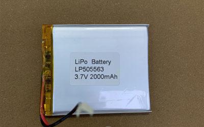 Standard LiPo Battery LP505563 3.7V 2000mAh