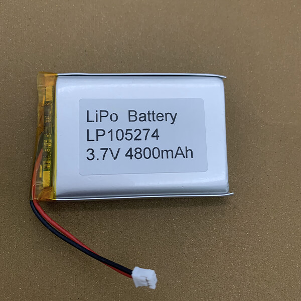 Rechargeable LiPo Battery LP105274 4800mAh with connector PHR-2