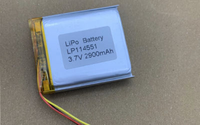 LiPo Battery LP114551 3.7V 2900mAh with 10K NTC and Connector