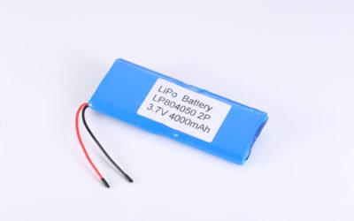 Hot Selling LiPo batteries LP804050 2P 3.7V 4000mAh