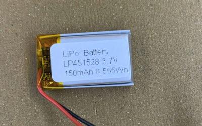 150mAh 3.7V Standard LiPo Batteries LP451528