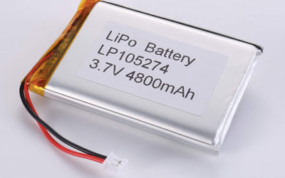 Rechargeable LiPo batteries LP105274 3.7V 4800mAh