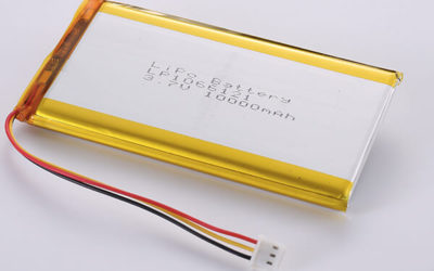 Standard Rechargeable LiPo batteries LP1066121 3.7V 10000mAh