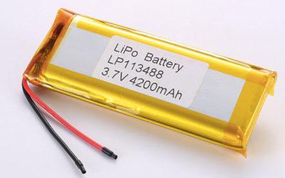 Rechargeable LiPo batteries LP113488 3.7V 4200mAh