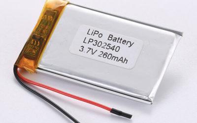 Standard LiPo Battery LP302540 260mAh