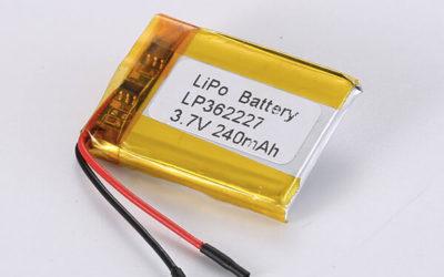 Standard LiPo Battery LP362227 240mAh