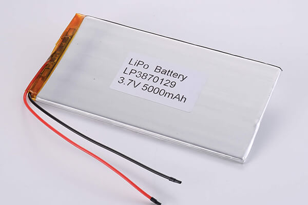 Standard LiPo batteries LP3870129 3.7V 5000mAh with 18.5Wh