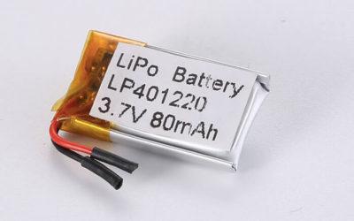 Small LiPo Batteries LP401220 80mAh