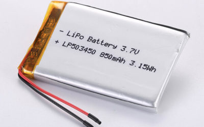 Rechargeable LiPo batteries LP503450 850mAh with 3.145Wh