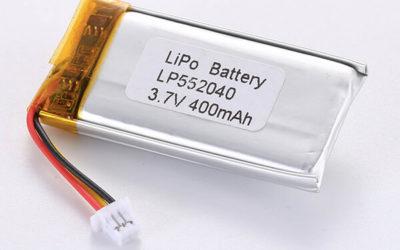 Hot Selling LiPo Batteries LP552040 3.7V 400mAh