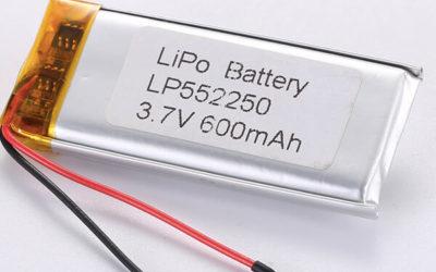 Hot Selling LiPo Batteries LP552250 3.7V 600mAh