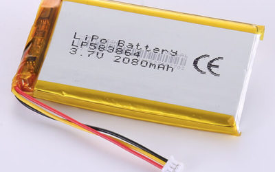 Hot Selling Rechargeable LiPo batteries LP583864 3.7V 2080mAh with 7.696Wh