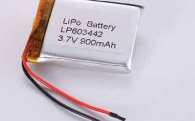 Rechargeable LiPo batteries LP603442 3.7V 900mAh with 3.33Wh
