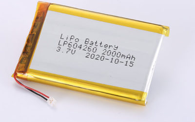 Rechargeable Hot Selling LiPo batteries LP604260 3.7V 2000mAh with 7.4Wh