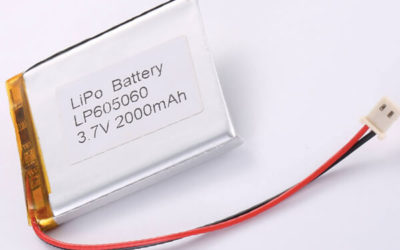 Rechargeable LiPo batteries LP605060 3.7V 2000mAh with 7.4Wh