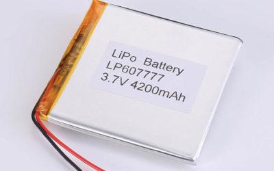 Hot Selling LiPo batteries LP607777 3.7V 4200mAh