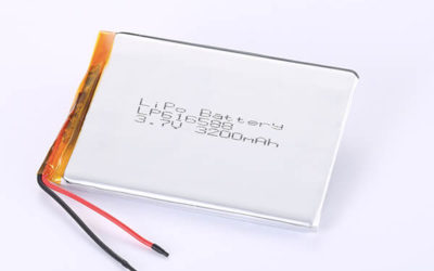 Rechargeable LiPo batteries LP616588 3.7V 3200mAh with 11.84Wh