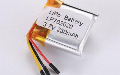 Standard LiPo Battery LP702020 230mAh