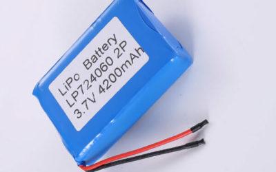 Rechargeable LiPo batteries LP724060 2P 3.7V 4200mAh