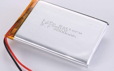 Rechargeable LiPo batteries LP755070 3.7V 3000mAh with 11.1Wh