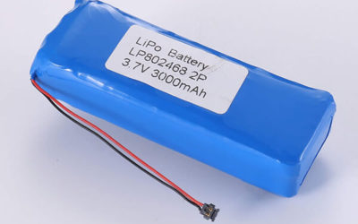 Rechargeable LiPo batteries LP802468 3.7V 3000mAh with 11.1Wh