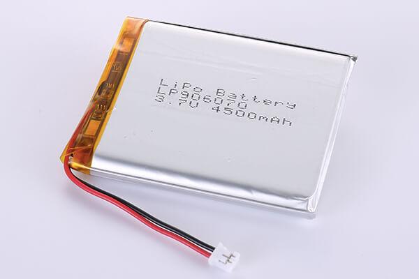 Rechargeable LiPo batteries LP906070 3.7V 4500mAh