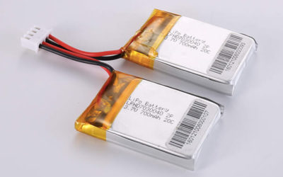 High Rate Rechargeable LiPo Batteries LPHD7030040 2P 3.7V 700mAh 20C