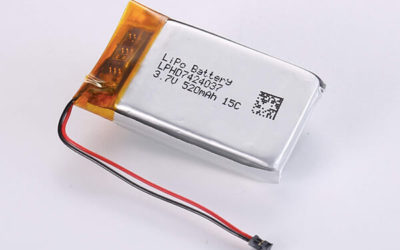 Hot Selling High Rate LiPo Batteries LPHD7424037 3.7V 520mAh 15C