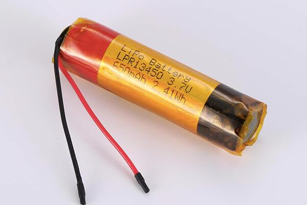 Hot Selling Cylindrical LiPo Batteries LPR13450 3.7V 650mAh