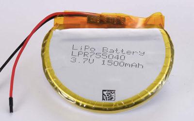 Hot Selling LiPo batteries LPR755040 3.7V 1500mAh