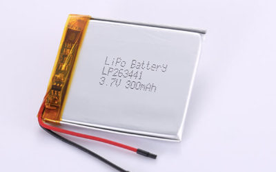 3.7V Rechargeable Hot Selling LiPo Batteries LP801730 350mAh with 1.295Wh
