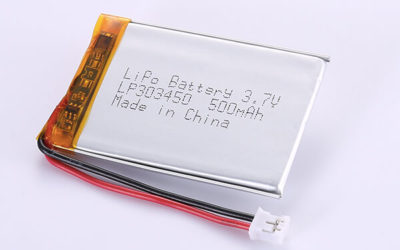 Hot Selling LiPo Batteries LP303450 3.7V 500mAh with 1.85Wh