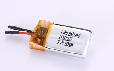 Small Rechargeable LiPo Batteries LP311222 60mAh with 0.222Wh