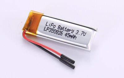 Small Rechargeable LiPo Batteries LP350826 45mAh with 0.167Wh