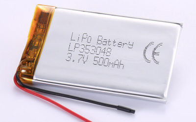 Hot Selling LiPo Batteries LP353048 3.7V 500mAh with 1.85Wh